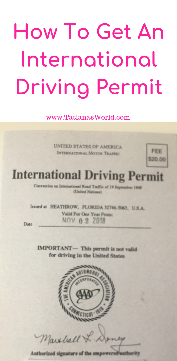 international drivers license how to apply for one with AAA