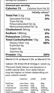 keto hamburger buns nutrition facts