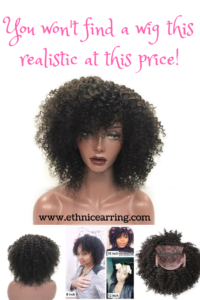 natural hair wig real human hair synthetic fake kinky curly wigs protective style